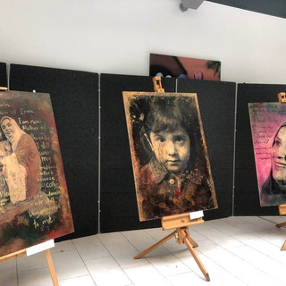 Refugee Stories exhibited at Endeavour House, Suffolk County Council's HQ - Ipswich - 2018 Refugee Stories  PhotoEast Festival © Gillian Allard