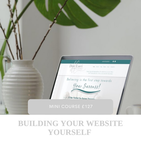 It's tricky in the beginning to splash your cash on everything, so this mini course will give you the step by step basics to build your photography website yourself.
