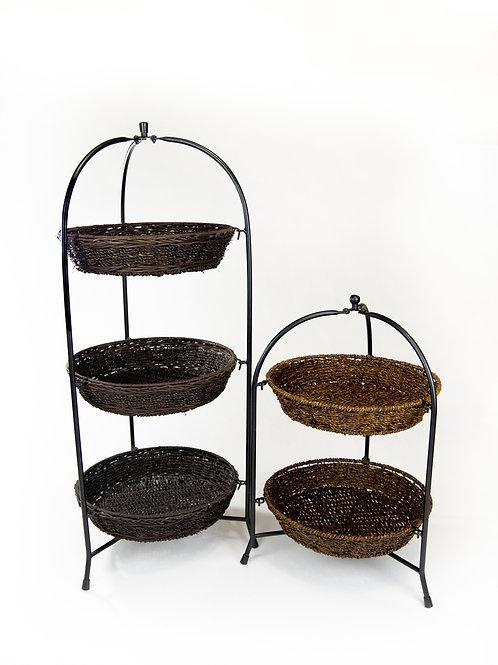 Tiered Wicker Baskets