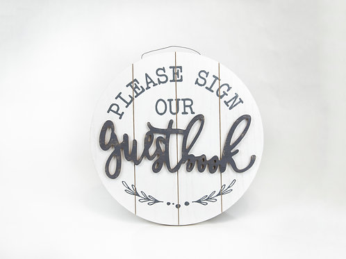 Round Guestbook sign