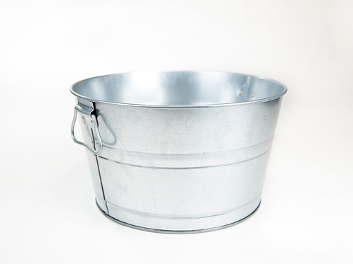 Large Galvanized Metal Bucket
