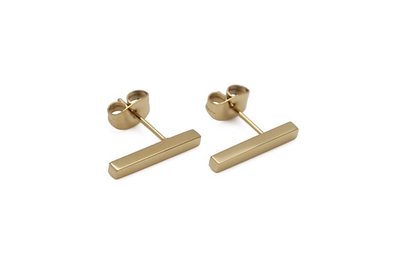 OTA Earrings studs bar no strass