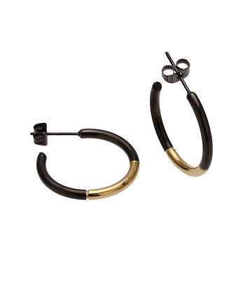 JAEDA Earrings hope black
