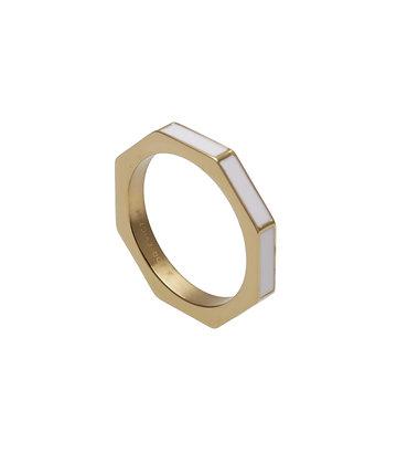 GAUDI Ring square enamel