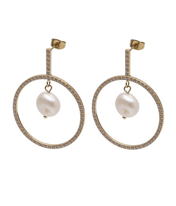 KELLIE Earrings strass round