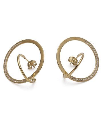 ZOE Earrings strass fine double