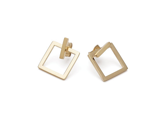ZOE open square stud