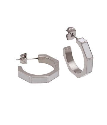 GAUDI Earring square enamel