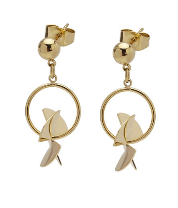 EUPHONY Earrings hoop stud ball