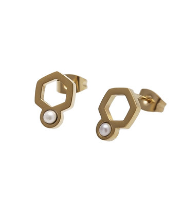 BARSA Earrings small 6corner