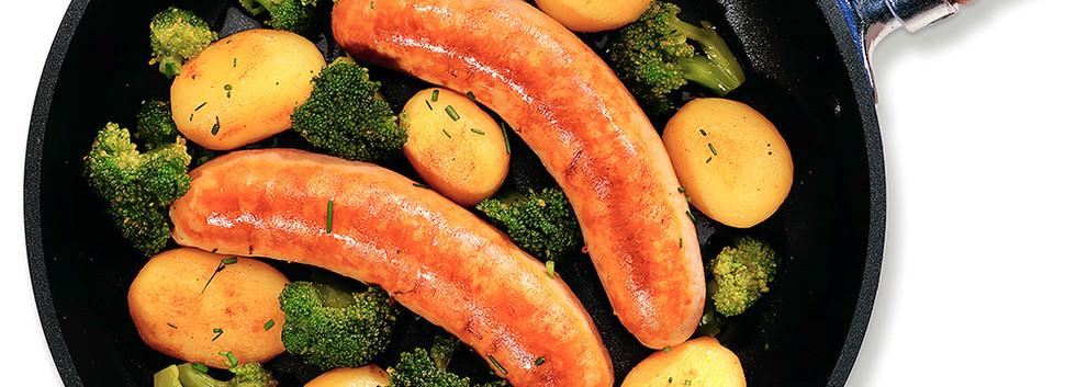 Kippenworst pan