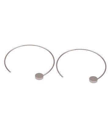 JAEDA Earrings hope L flat round