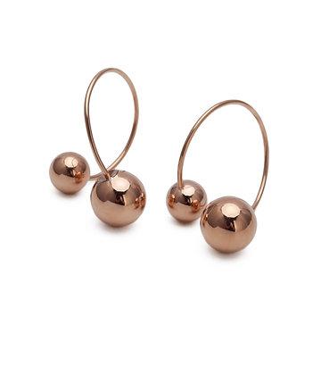 JAEDA Earrings ball double