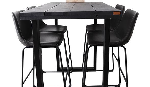Bartafel UDO steigerhout zwart