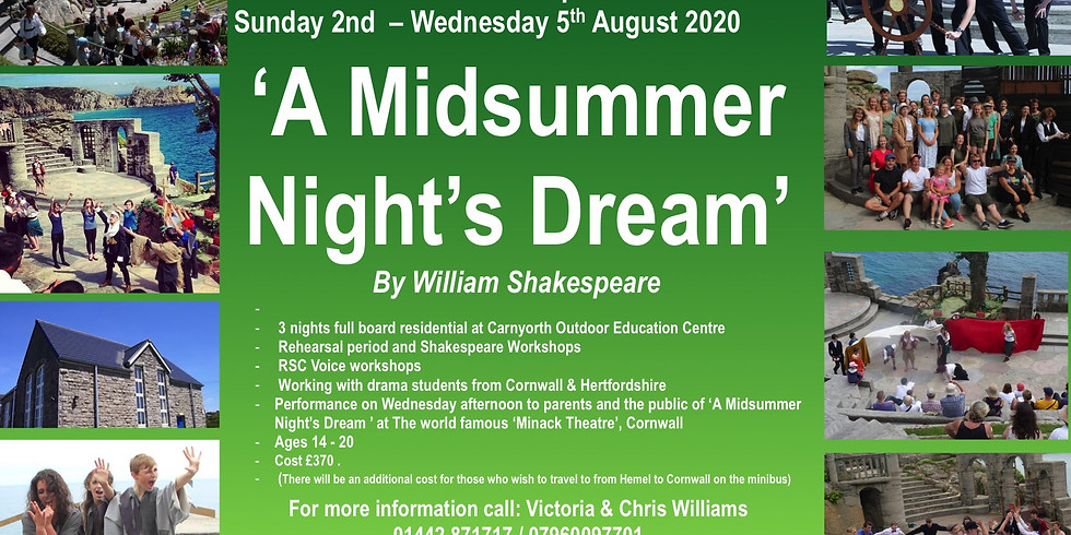 Shakespeare Summer Residential Course