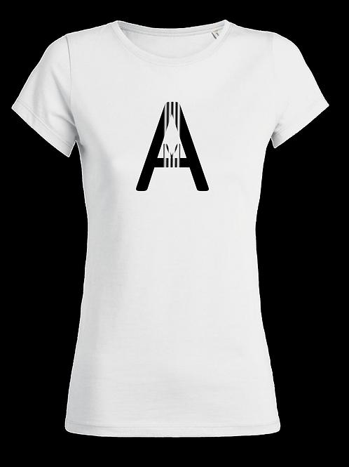 "T-Shirt ""SMALL A RAYER"" BLANC"