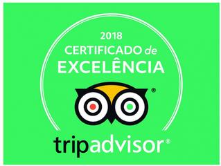 Jardim Atlântico Beach Resort  recebe Certificado de Excelência do TripAdvisor 2018.