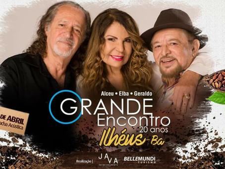 Ilhéus recebe espetáculo com Elba Ramalho, Geraldo Azevedo e Alceu Valença