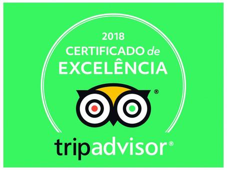 Pousada Bambu recebe Certificado de Excelência 2018 do TripAdvisor.