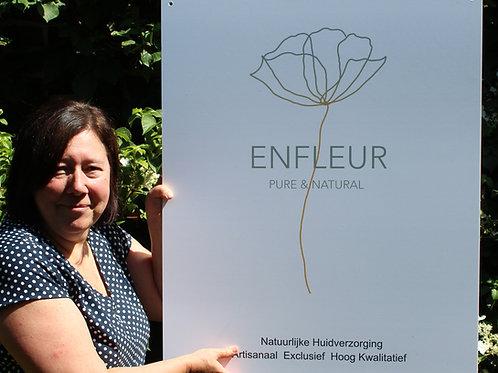 Enfleur poster met logo