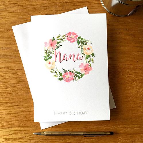 Grandmother Birthday Card