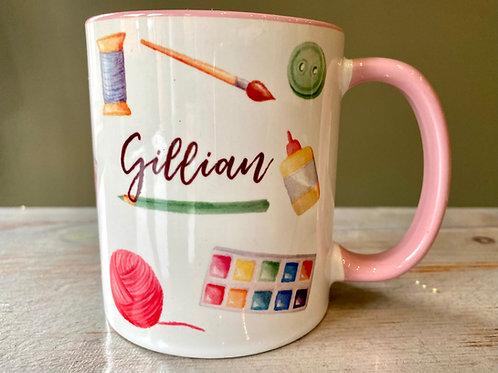 Personalised Crafter Craftaholic Mug