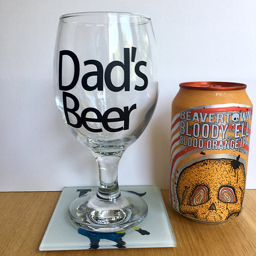 Personalised Craft Beer Goblet Glass