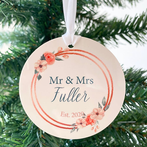 Our First Christmas as Mr & Mrs Ornament