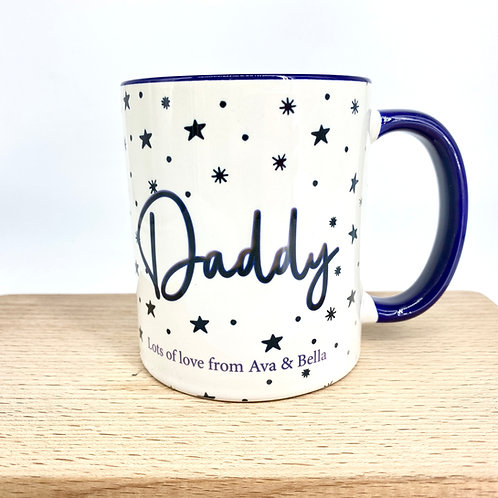 Blue Dad Personalised Mug with Message