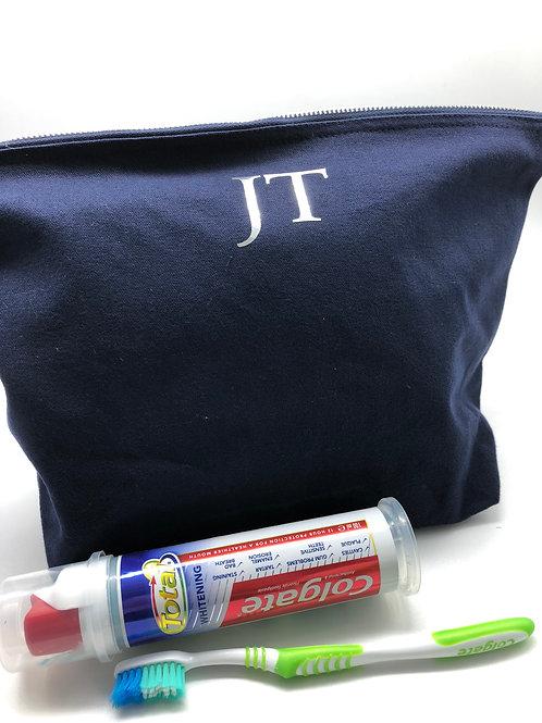 Large Initial Wash Bag
