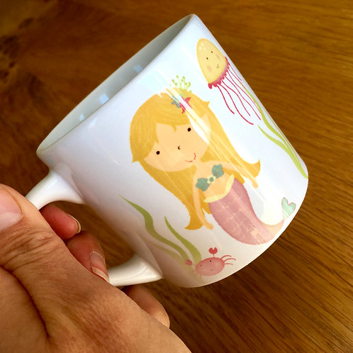 Personalised Kid's Mermaid Mug