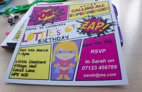 Make Your Childs Party Extra Special With These Personalised Supergirl Themed Invitations