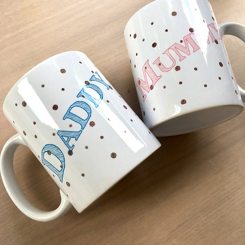 Mummy & Daddy Mug Set