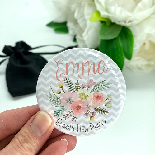 Grey & Blush Floral Hen Party Mirrors