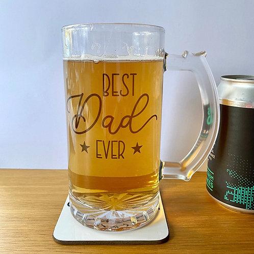 Personalised BEST Dad / Daddy / Grandad Beer Mug
