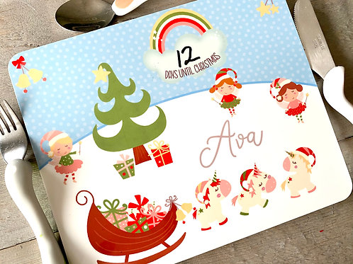 Countdown to Christmas Children's Placemat