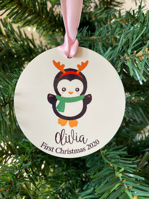Baby's First Christmas Bauble -  Penguin Ornament