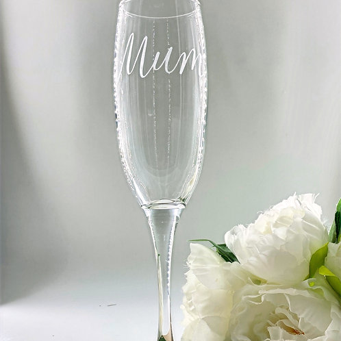 Etched Flute Glass