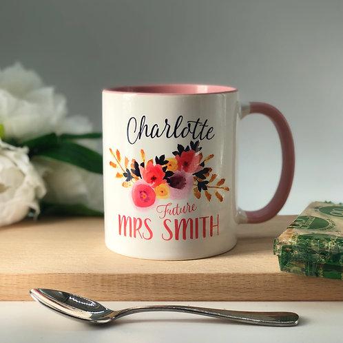 """Personalised """"Future Mrs"""" Mug"""