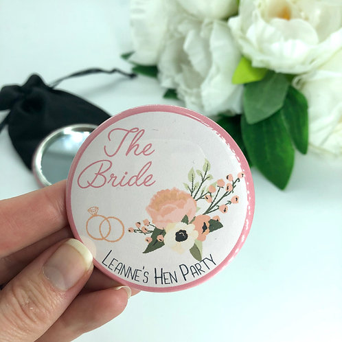 Coral Floral Hen Party Mirrors