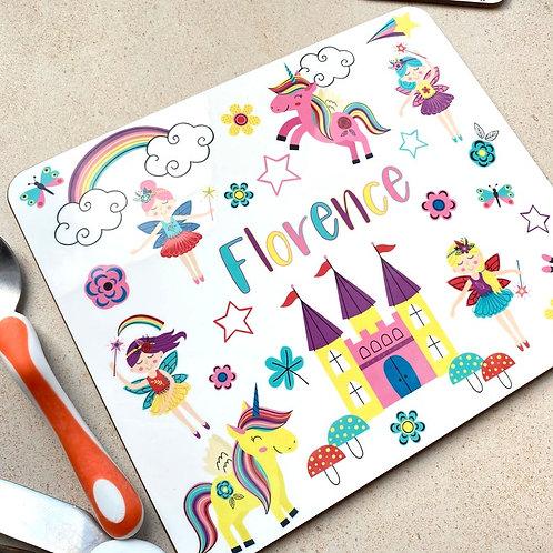 Kids Unicorn / Fairy Placemat / Coaster