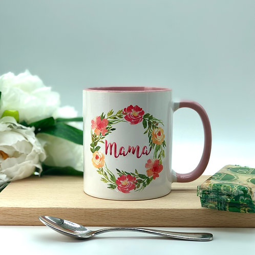Personalised Floral Wreath Mug