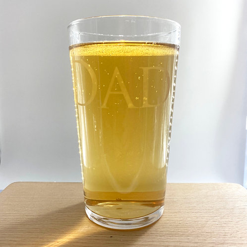 Etched Personalised Pint Glass