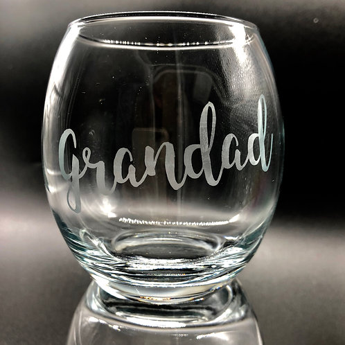 Etched Personalised Whiskey Tumbler