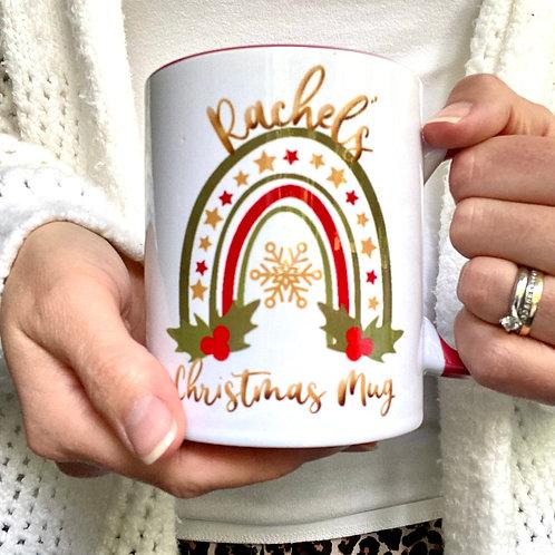 Rainbow Christmas Mug