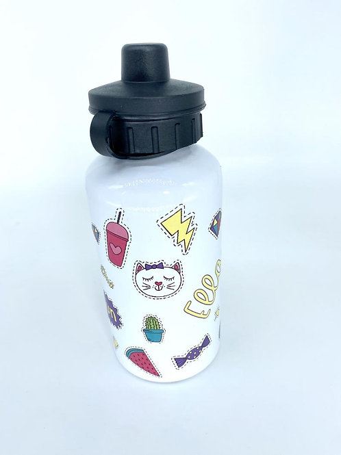 Bright Unicorn Sticker Water Bottle