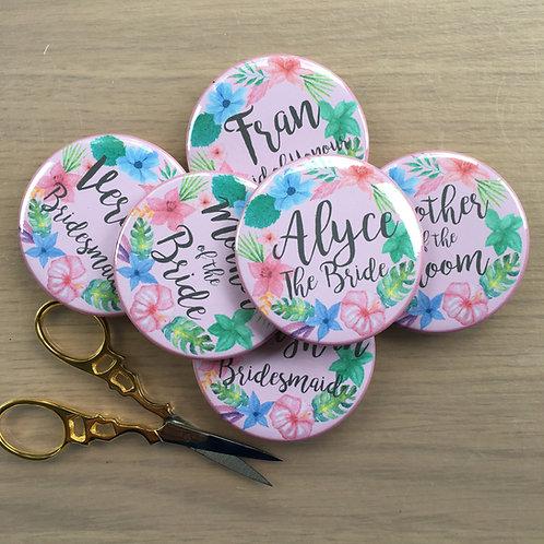 Floral Hen Party Badges