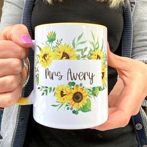 Sunflowers Floral Mug