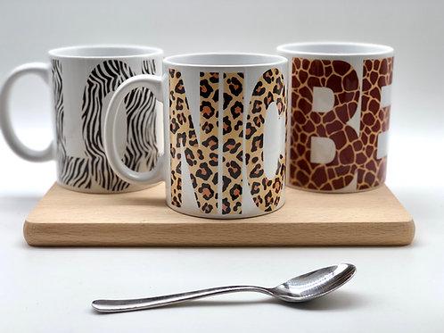 Personalised Animal Print Mug