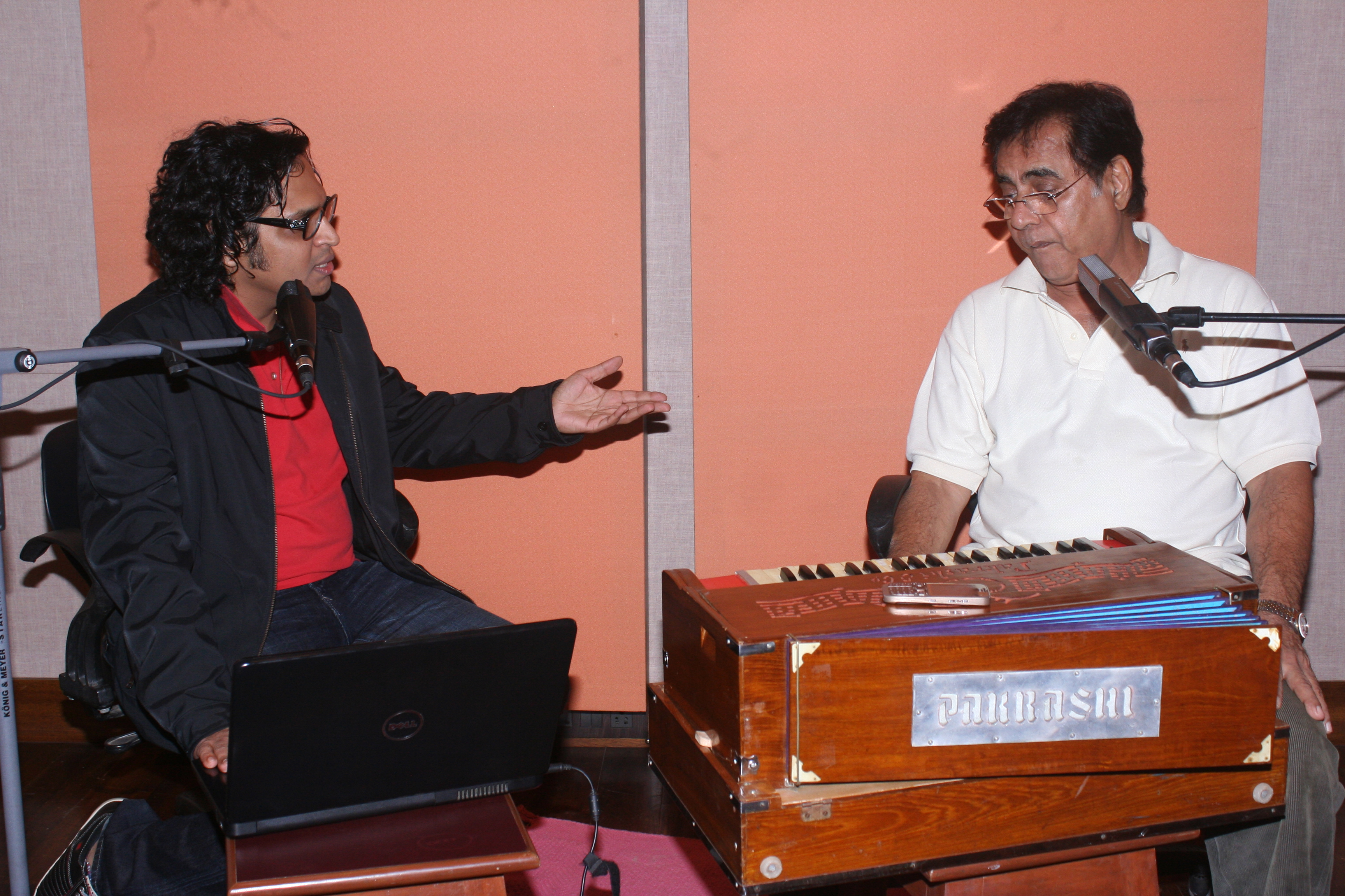 with Jagjit Singh
